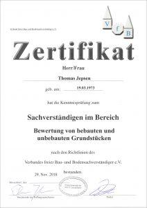 Zertifikat-Sachverständiger